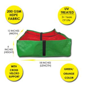 HDPE Rectangular Grow Bag 18 x 18 x 6