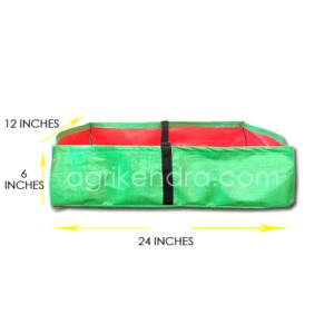 HDPE Rectangular Grow Bag 24 x 12 x 6