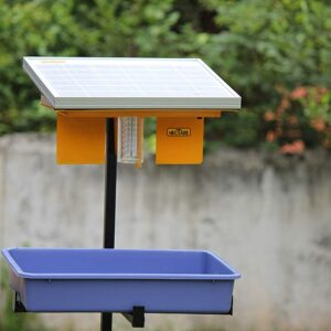 Hectare Automatic Solar Insect Trap with 10 watt Solar Panel UV Light, Li-Ion Battery and Tray for pest Collection ( FREE SHIPPING)